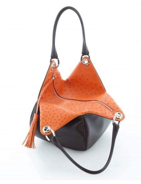 DE GRIMM Tulipe Precious - Ostrich leather pouch bag DG2016EXO-TULIPE-MM 985,00€