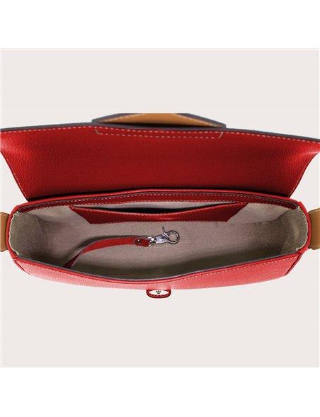DE GRIMM Iris studs - Leather flapover crossbody bag DGIRIS-GRCLOUS 599,00€