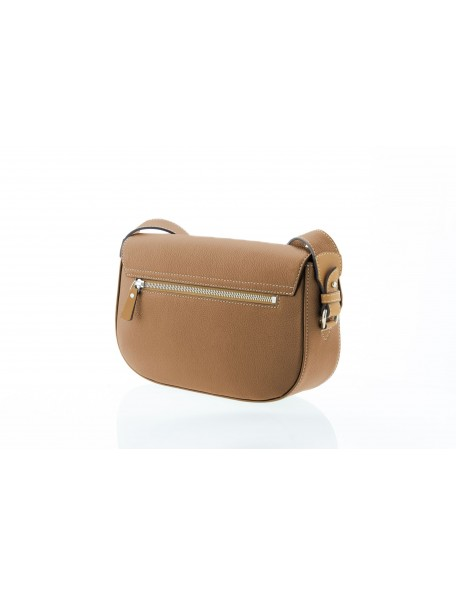 DE GRIMM Iris - Leather flapover crossbody bag DG1711GR-IRIS 575,00€