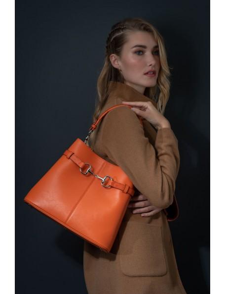 DE GRIMM Sellier Exclusive - Ostrich leather horsebit bag DGLSAUT-SELLIER 990,00€