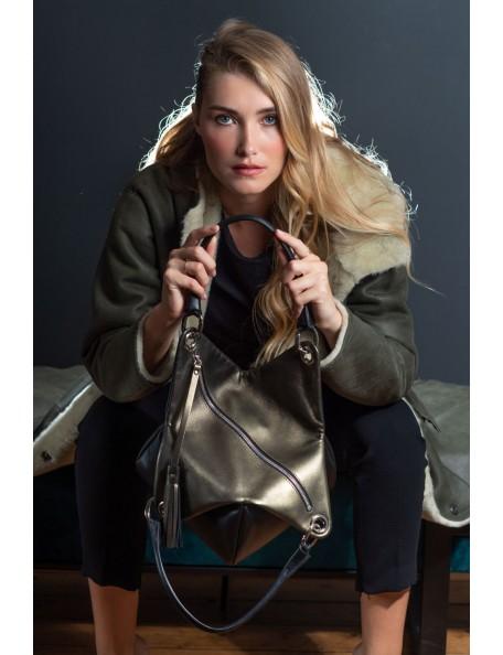 DE GRIMM Tulipe bronze - Leather pouch bag DGLSMOUT-TULIPË 575,00€