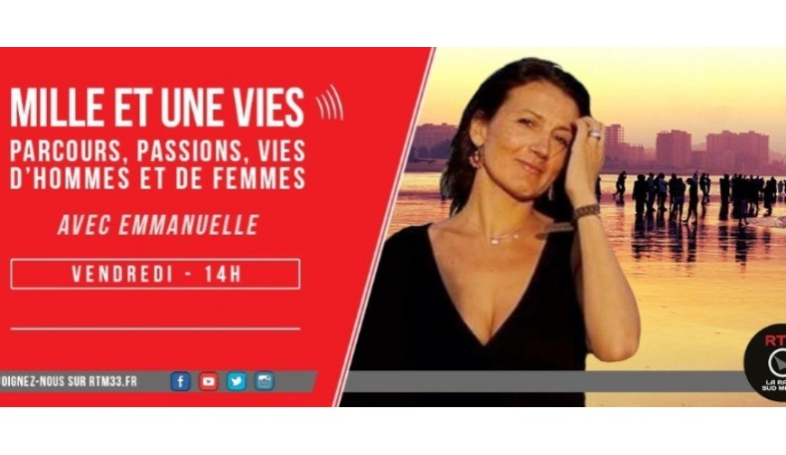 "Olivier interviewed by Emmanuelle in ""A thousand and one lives"" radio show"